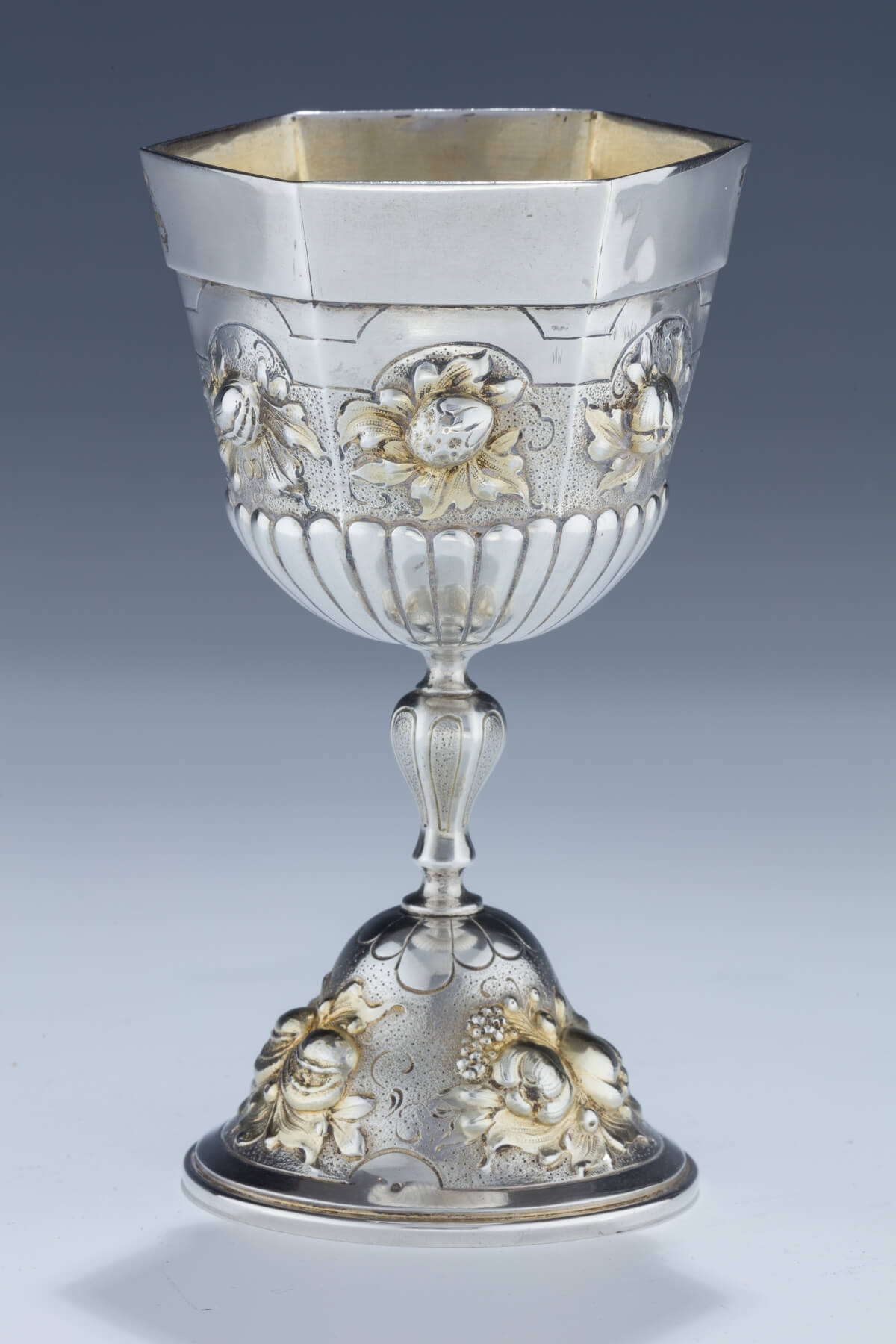 110. A Monumental Silver Kiddush Cup by Lazarus Posen