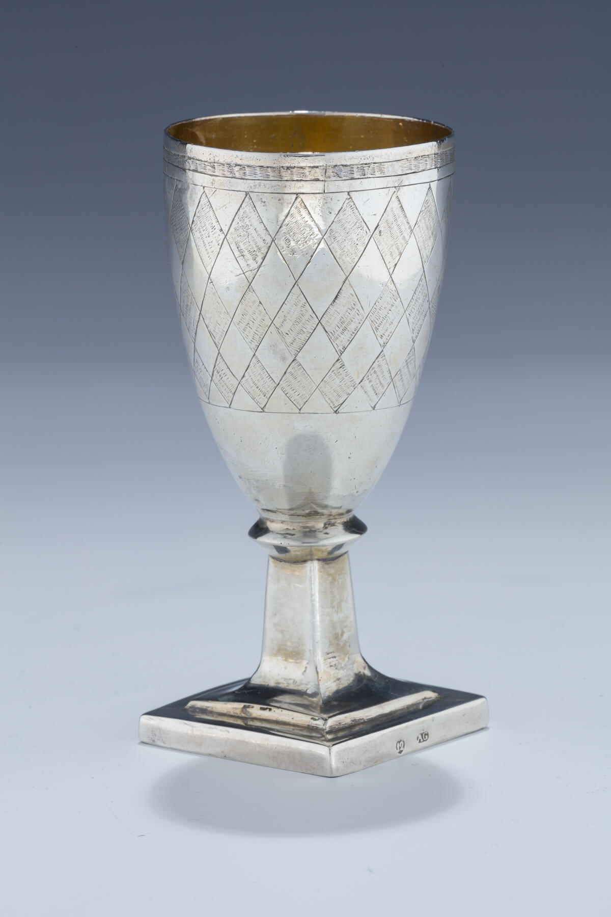 102. A Large Silver Kiddush Goblet