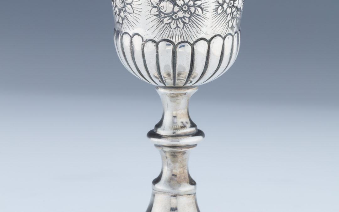 010. A Silver Kiddush Goblet