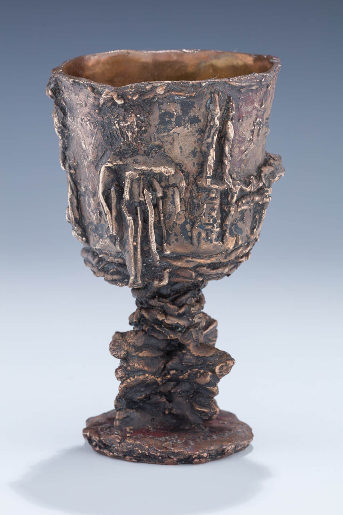 155. A Brass Kiddush Goblet by Hana Geber