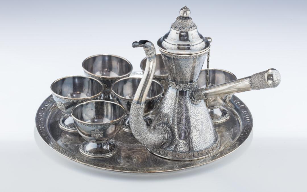 009. A Sterling Silver Finjon Set by Avishai/Bezalel