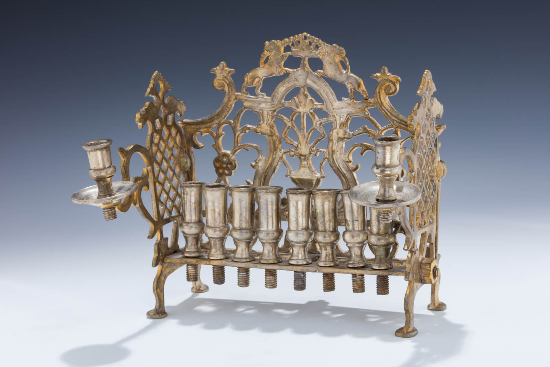 126. A Large Brass Hanukkah Lamp