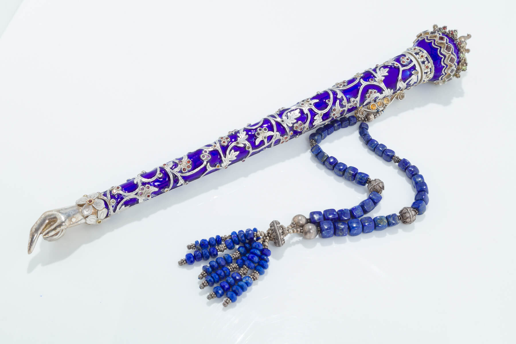 141. A Silver and Enamel Torah Pointer by Dekel Aviv
