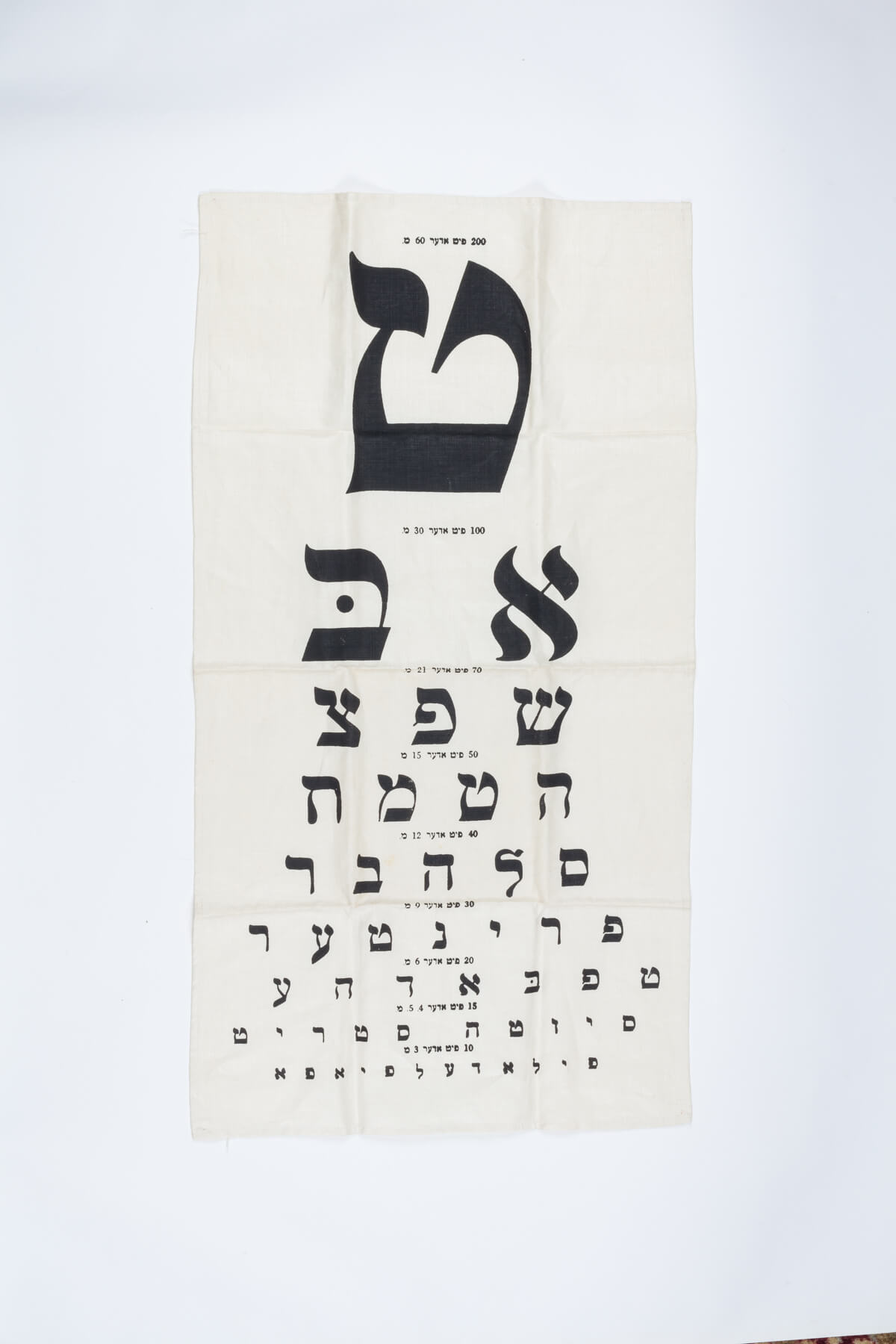052. A Vintage Yiddish Eye Chart