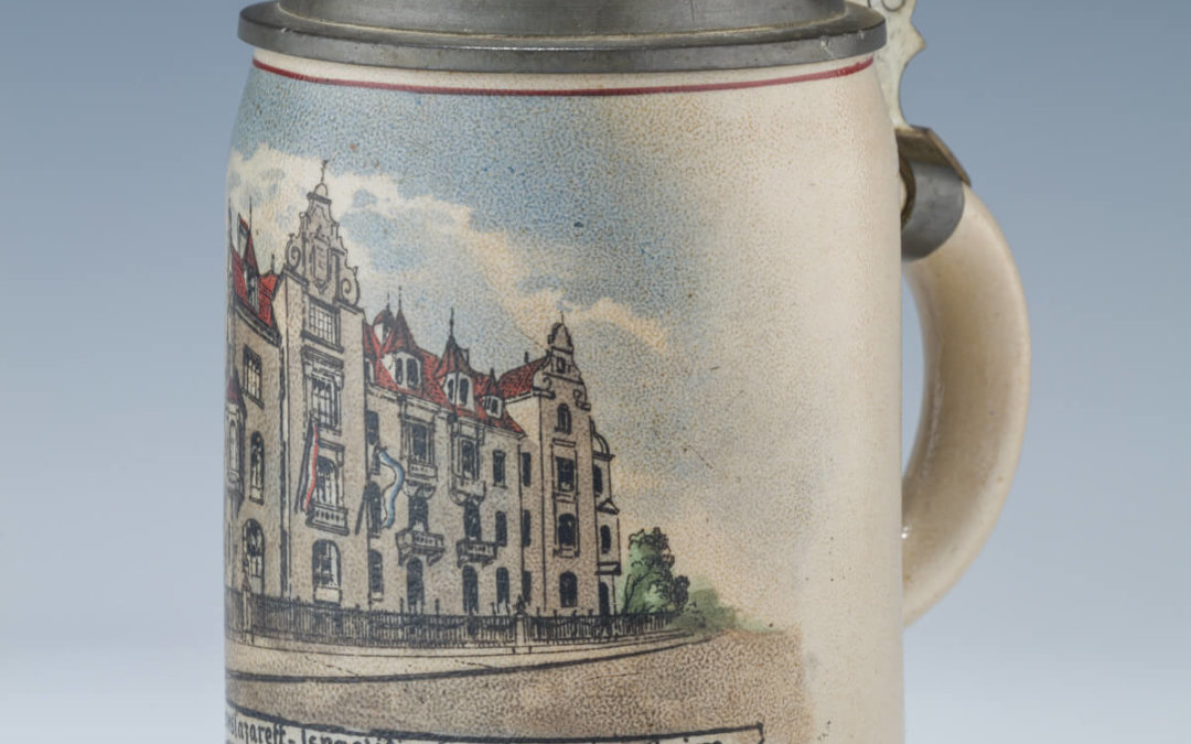 003. A STONEWARE STEIN BY MERKELBACH AND WICK