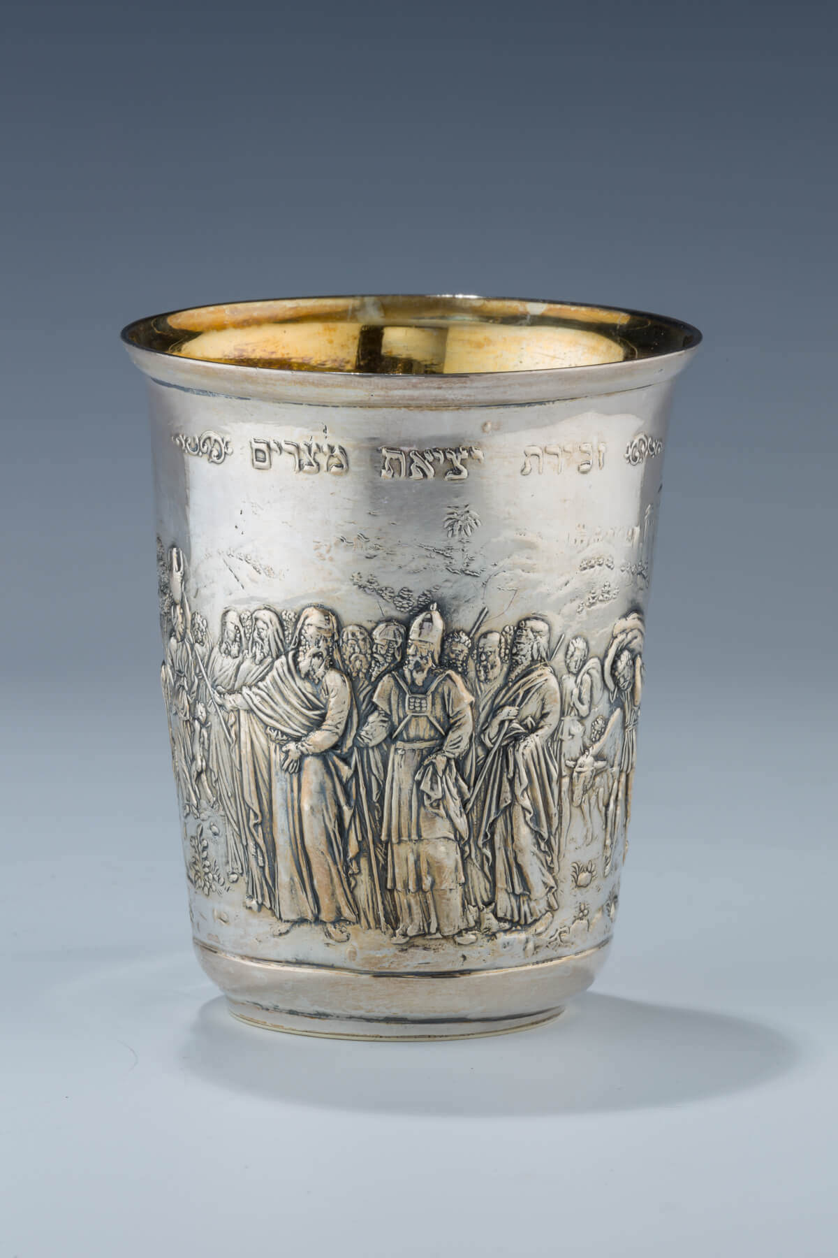 177. A MASSIVE STERLING SILVER PASSOVER CUP BY HENRYK WINOGRAD