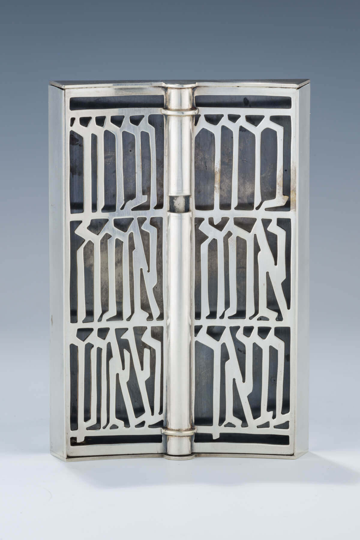 179. A LARGE STERLING SILVER MEZUZAH BY LUDWIG WOLPERT