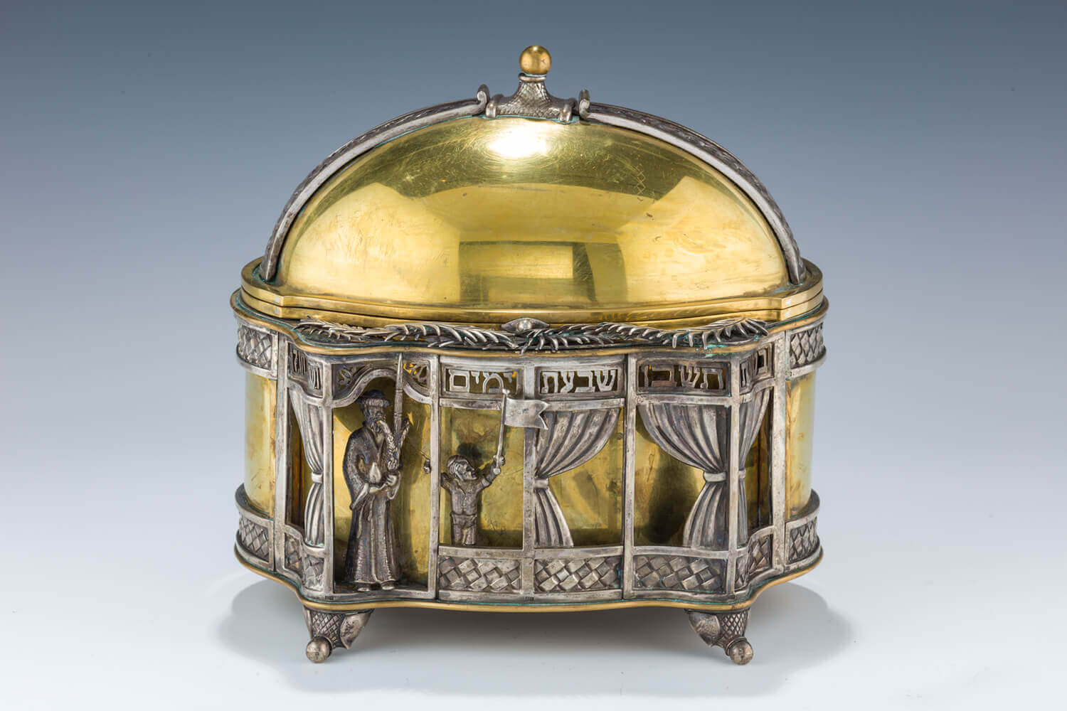 159. A SILVER ETROG CONTAINER BY DUDIK SWED