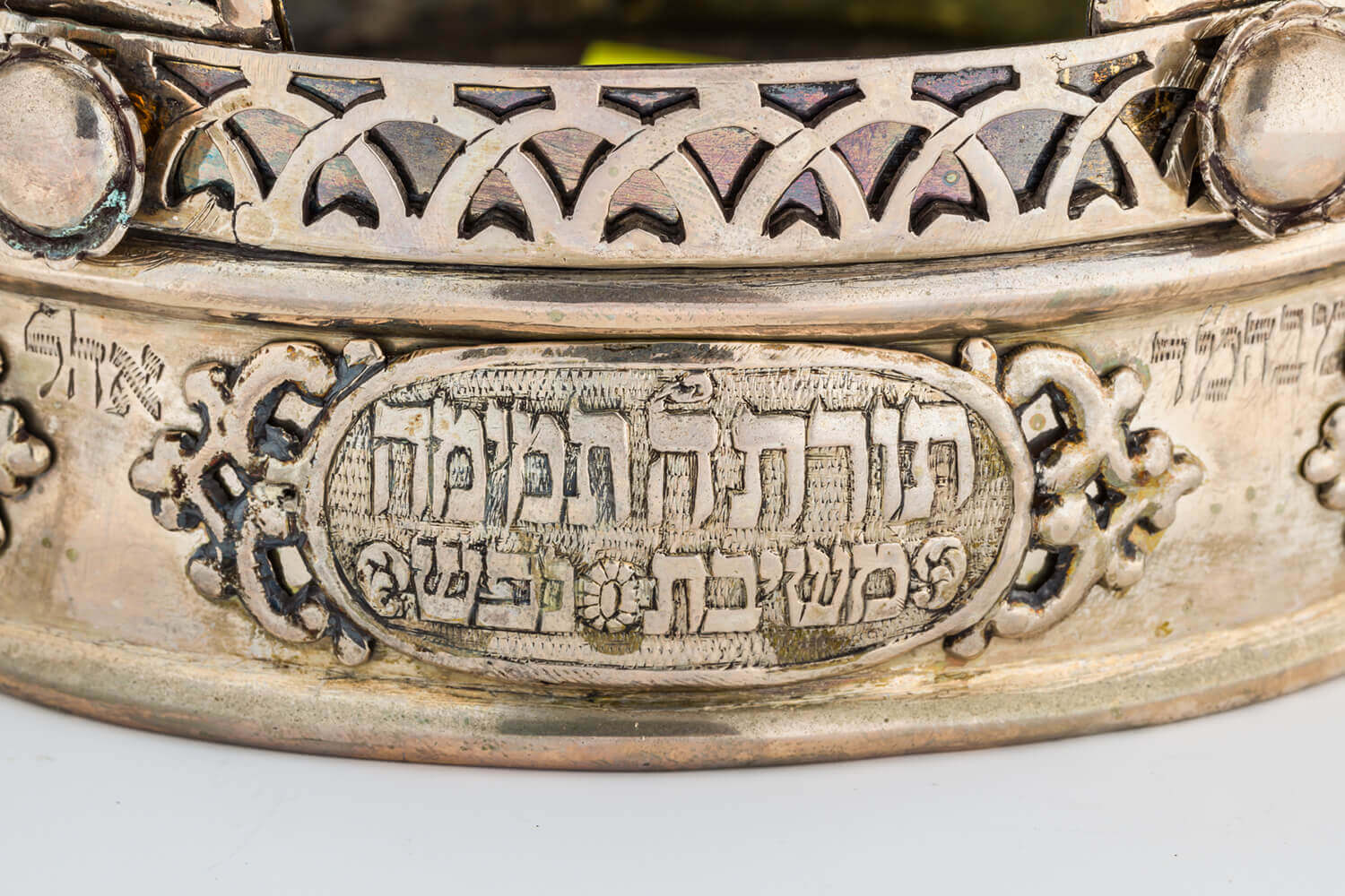 144. A PARCEL GILT TORAH CROWN
