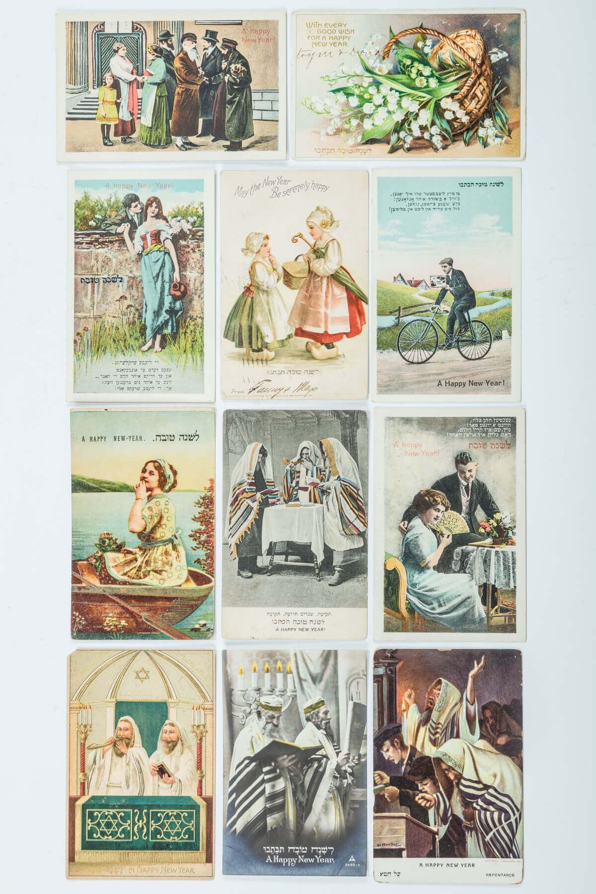 116. A COLLECTION OF 79 JEWISH NEW YEARS POSTCARDS