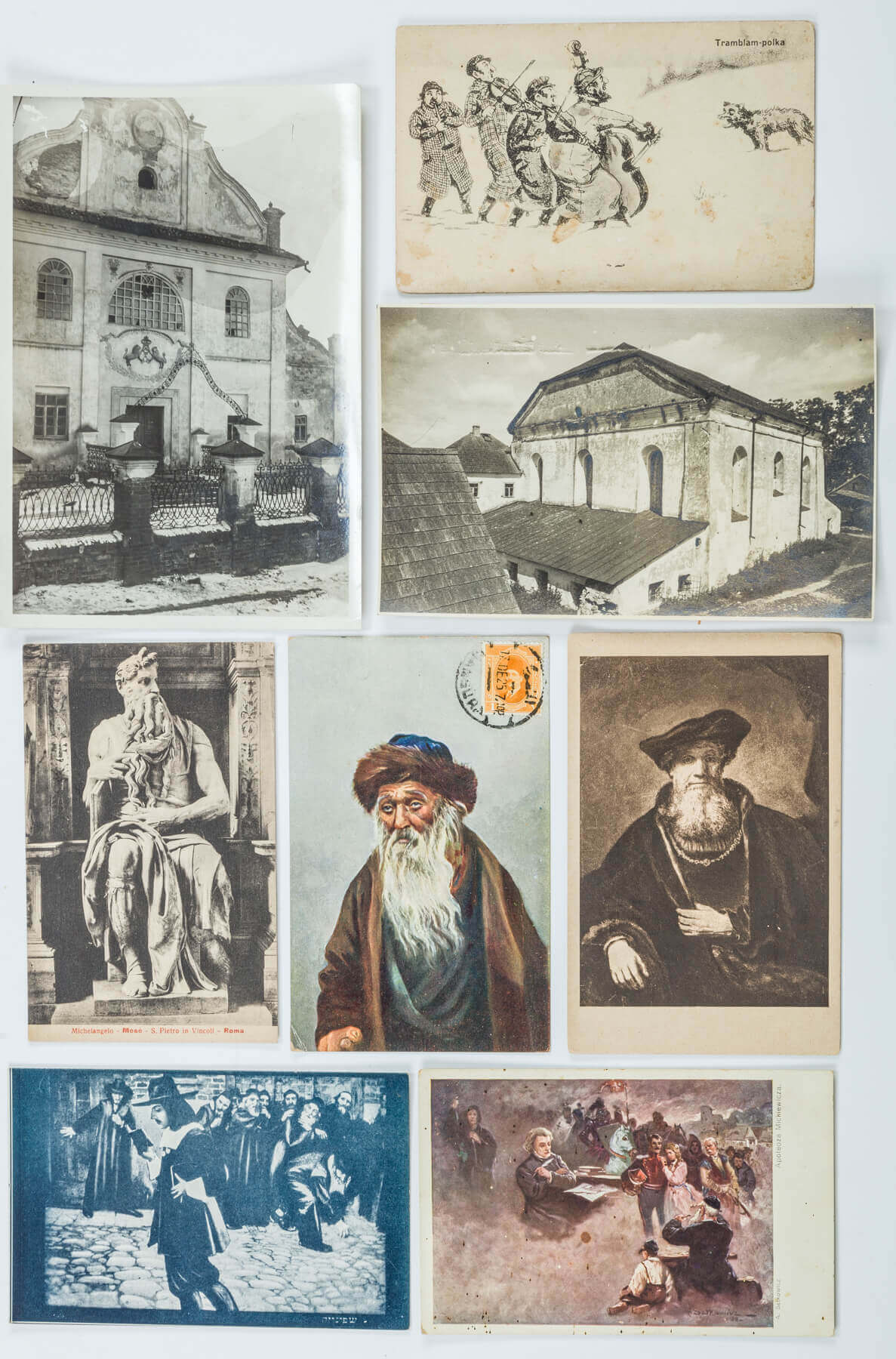 117. A COLLECTION OF 50 JEWISH AND JUDAIC POSTCARDS