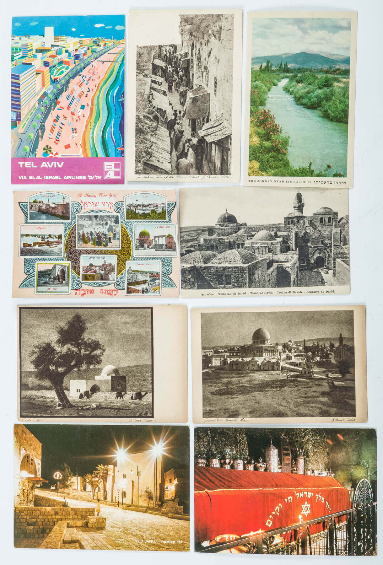 115. A COLLECTION OF 150 ISRAELI AND PALESTINE ERA POSTCARDS