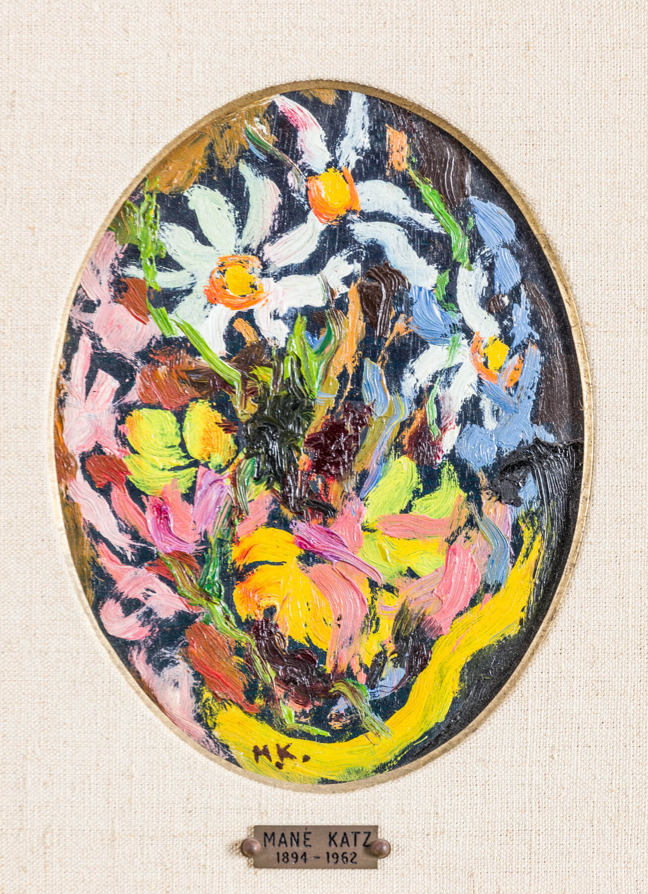 144. A PAIR OF OVAL PAINTINGS BY MANE KATZ