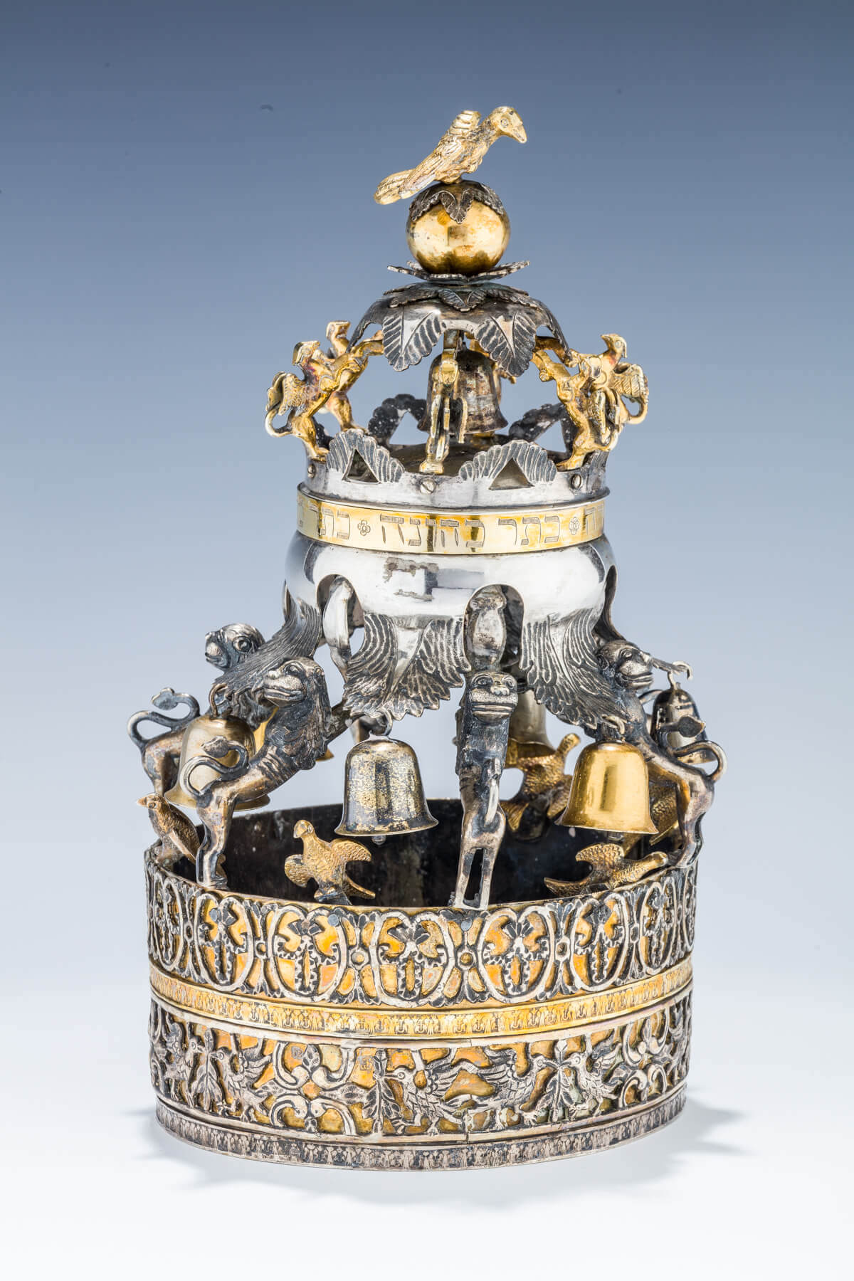 110. A RARE AND IMPORTANT GALICIAN SILVER TORAH CROWN