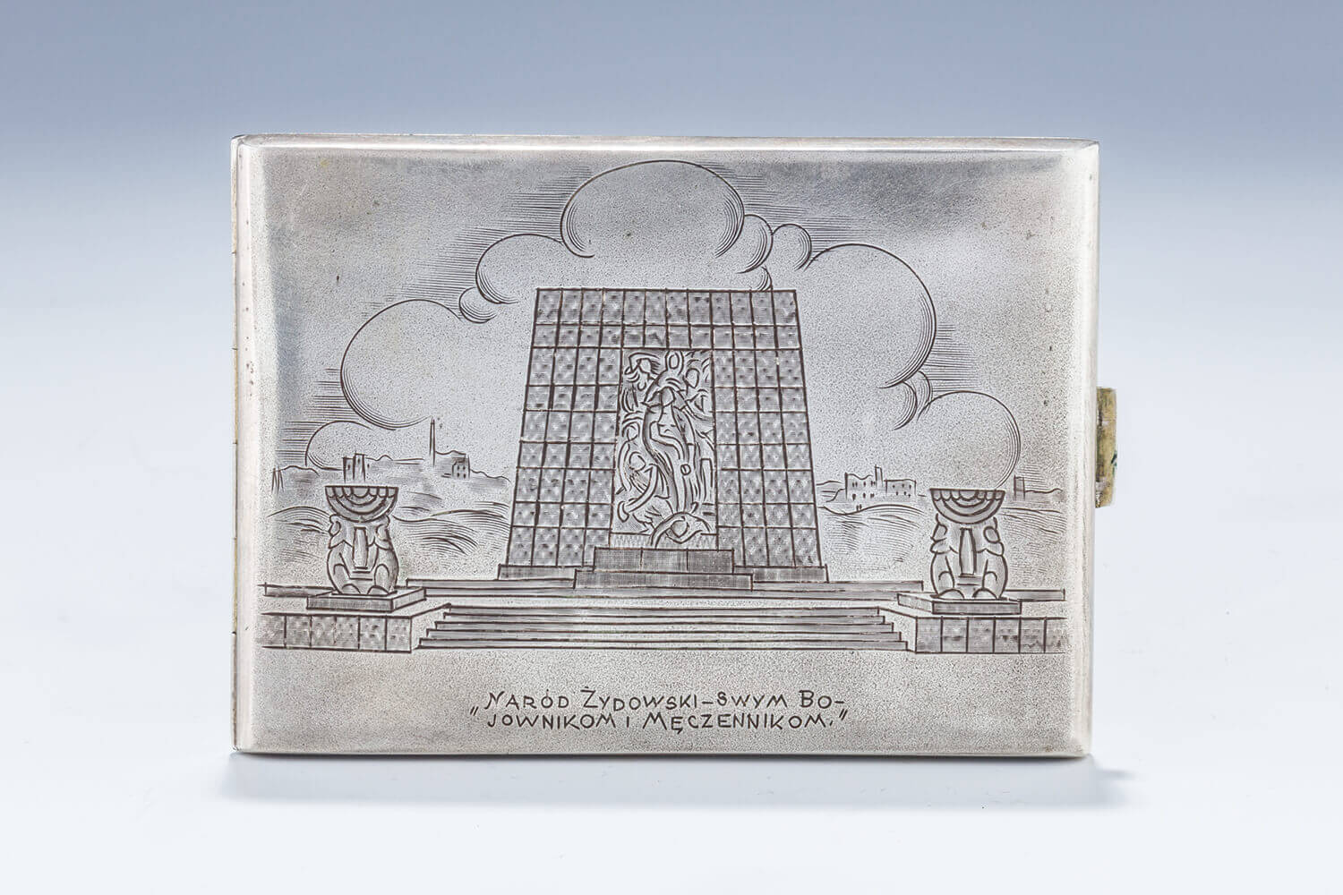 016. A SILVER CIGARETTE BOX