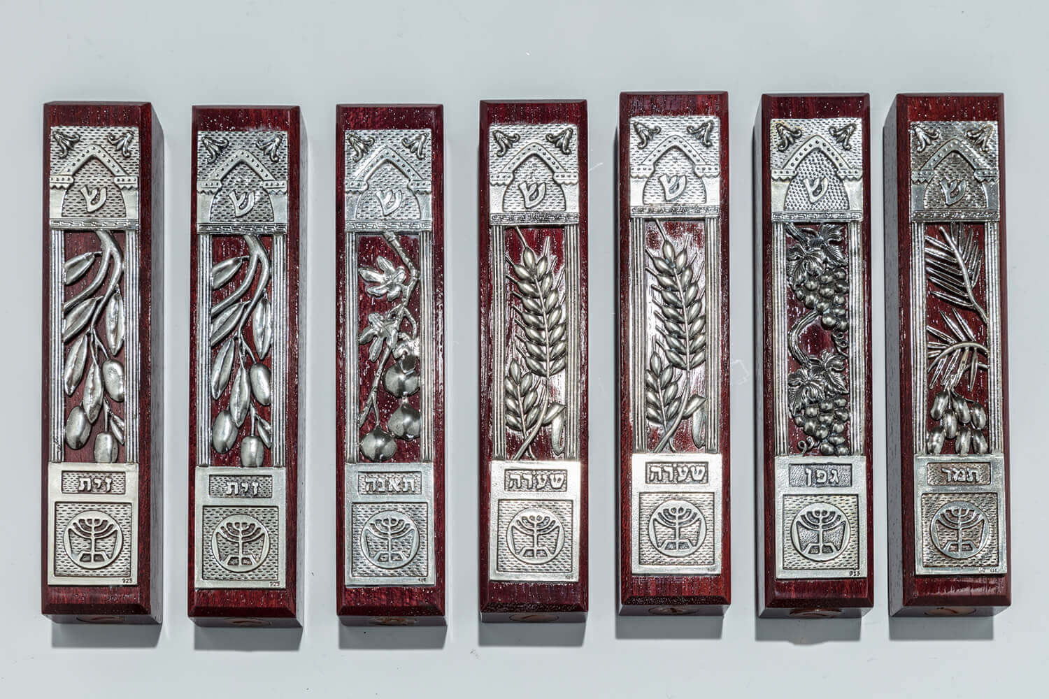 098. THE SEVEN SPECIES MEZUZAH COLLECTION BY LUVATON