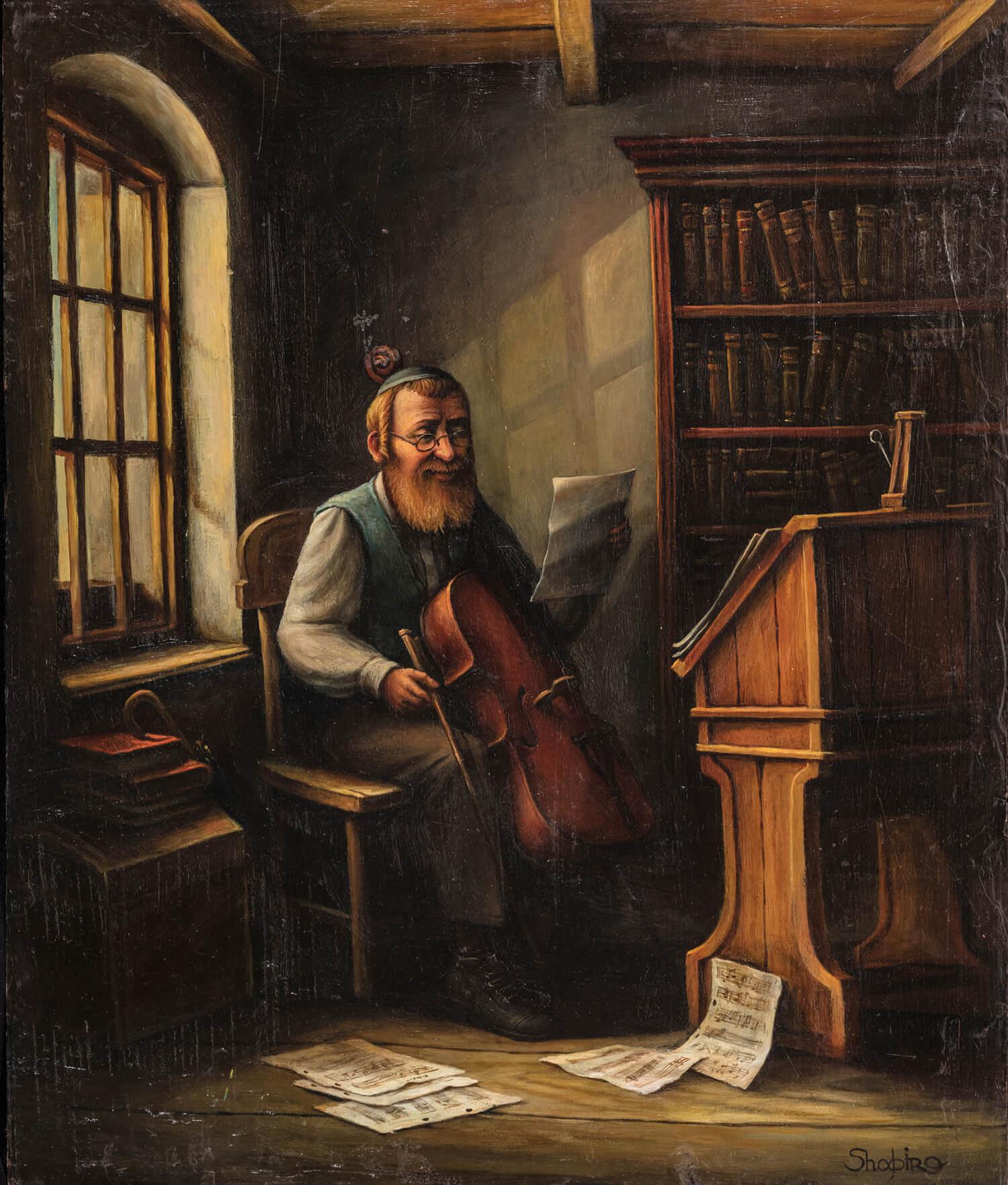 "171. BORIS SHAPIRO: ""Cello Maker"""
