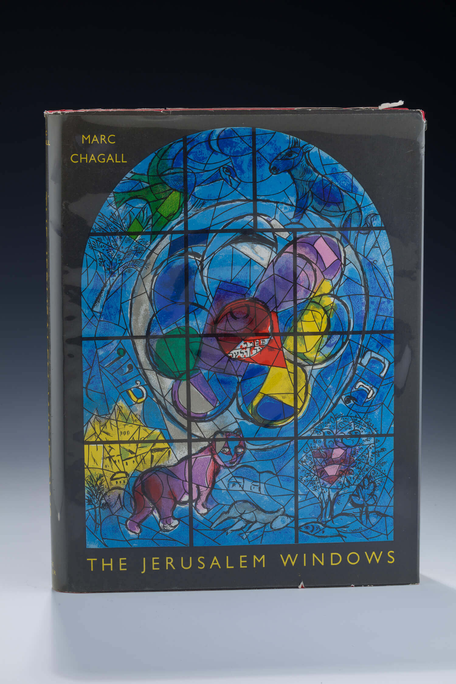 "111. MARC CHAGALL, ""JERUSALEM WINDOWS"" BOOK WITH 2 ORIGINAL LITHOGRAPHS"