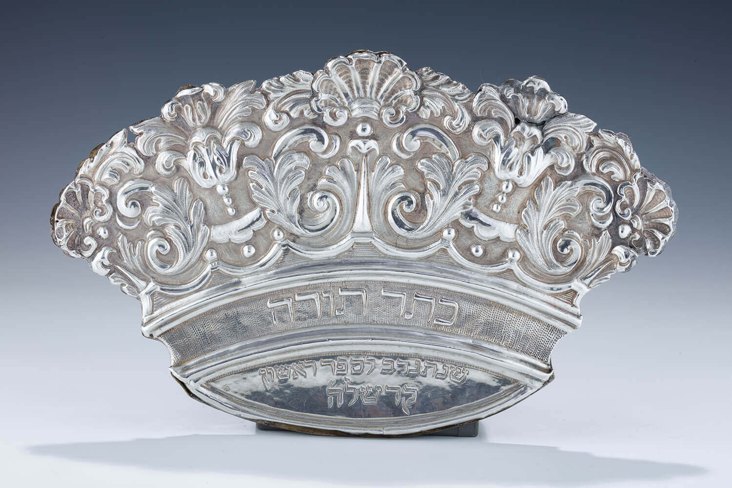 085. A RARE AND IMPORTANT SILVER TORAH SHIELD BY PAOLO RUZZOLI