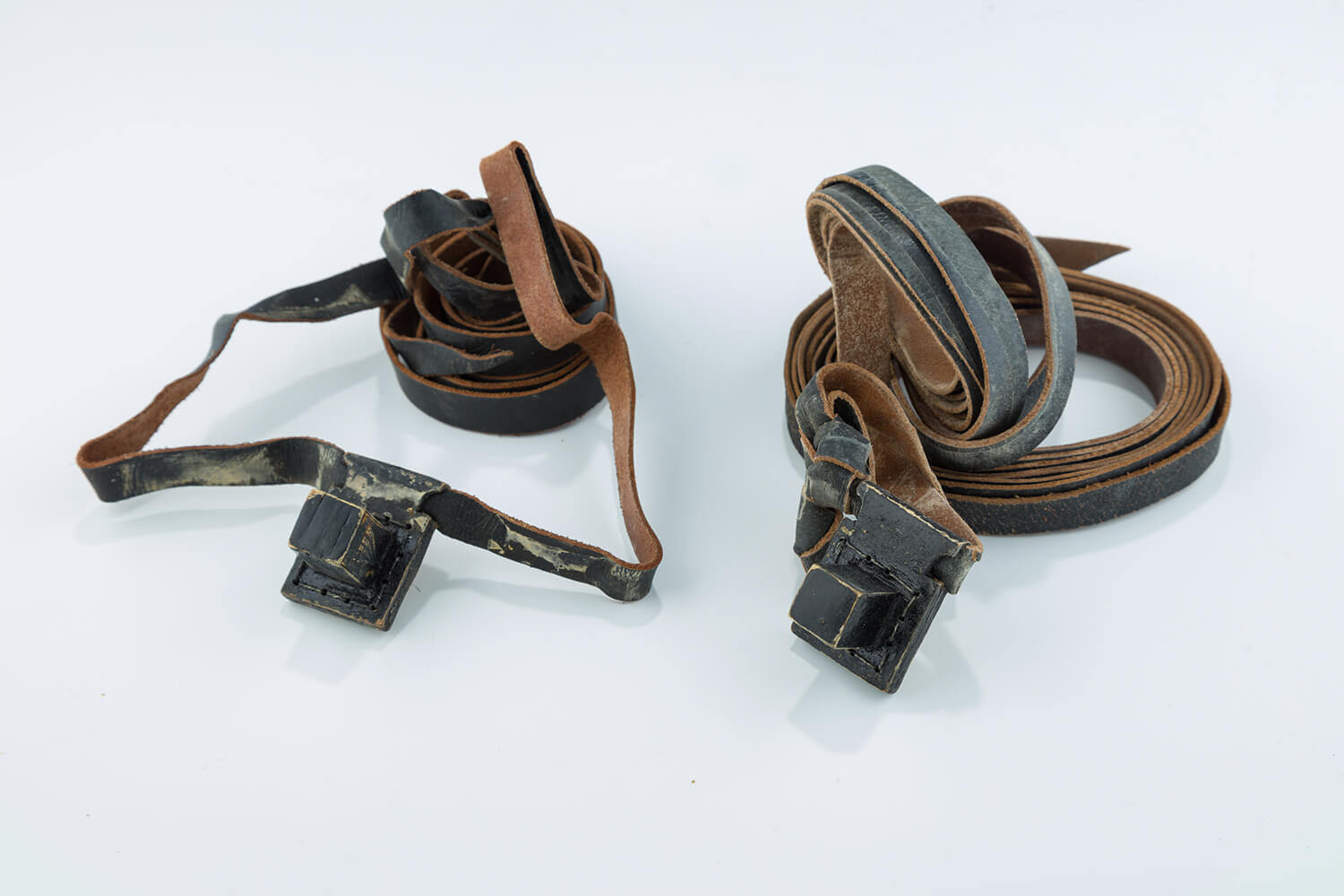 021. THREE PAIRS OF MINIATURE TEFILLIN