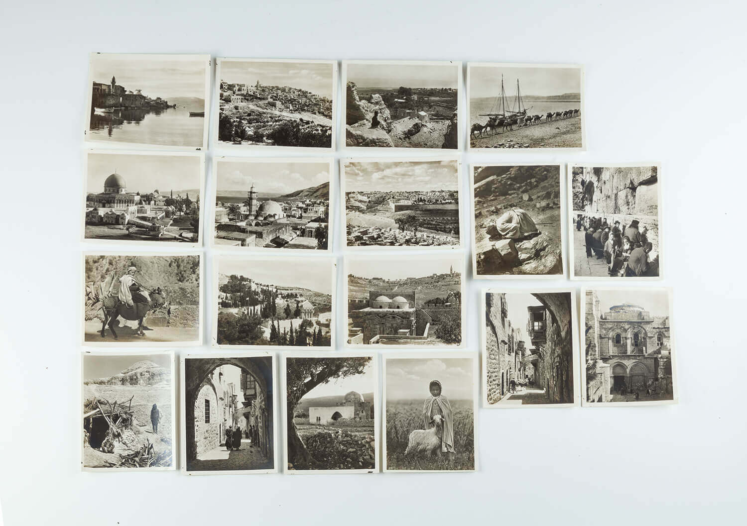 114. A GROUP OF 34 ORIGINAL BLACK AND WHITE PHOTOGRAPHS OF EARLY PALESTINE