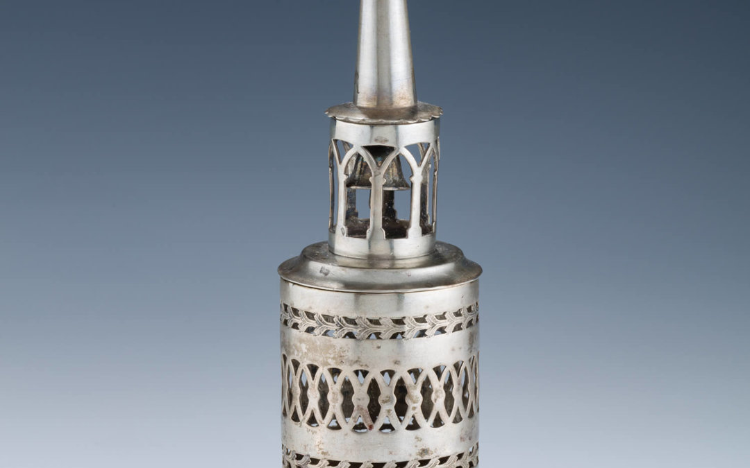 005. A SILVER SPICE CONTAINER